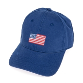 H-L American Flagⓒ on Bright Navy