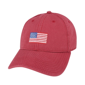 H-L American Flagⓒ on Weathered Red