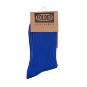 FOLDER Solid socks_Blue