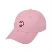 circle frame logo cap/Pink