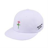 [White Garden] Applique 6P cap (White)