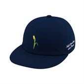 [White Garden] Applique 6P cap (Navy)