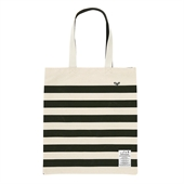 [White Garden] Stripe Eco Bag (Green)