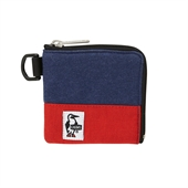 Square Coin Case Sweat Nylon/Navy