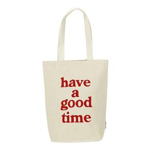haveagoodtime logo tote/White