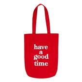 haveagoodtime logo tote/Red
