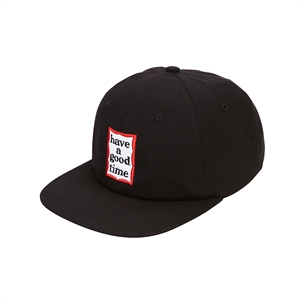 FRAME 6 PANEL CAP/BLACK