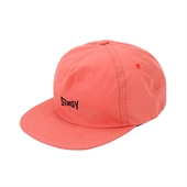 WASHED NYLON STRAPBACK CAP /Red