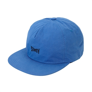 WASHED NYLON STRAPBACK CAP /Blue