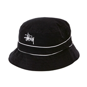 CORD BAND BUCKET HAT /Black