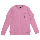 O'DYED DOUBLE TEE/Pink