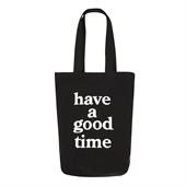haveagoodtime logo tote/Black