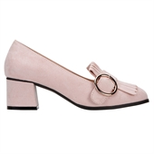 Fringe O-ring Pumps_Pink