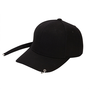 long strap cap Black