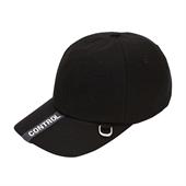webbing logo cap Black