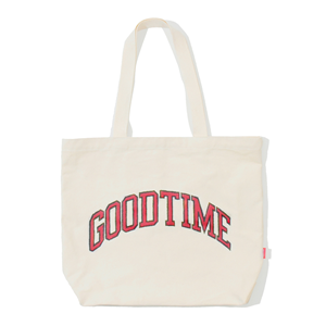 GOODTIME COLLEGE TOTE BAG Ivory