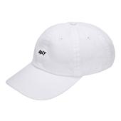 JUMBLE BAR HAT II 6 PANEL HAT White