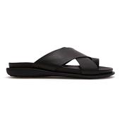 Leather Sandal X-Strap_Black