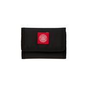 REVOLT RED TRI-FOLD WALLET Black