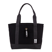 Tote Bag Sweat Nylon M_Black/Charcoal