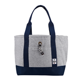 Tote Bag Sweat Nylon M_H-Gray/Basic Navy
