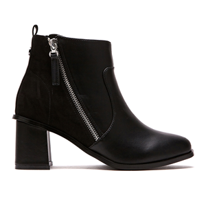 Pier4_Zip Ankle Boots 60MM_Black