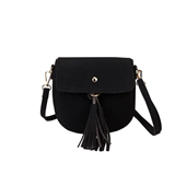Tassel Round Half Bag_Black
