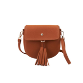 Tassel Round Half Bag_Brown