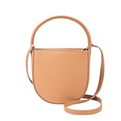 Handy D Shape Tote Bag_Beige