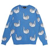 Falling For Nermal Knit Sweater_Light Bl