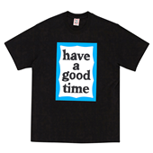BLUE BIG FRAME S/S TEE_BLACK