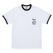 LOGO POCKET TRIM S/S TEE_WHITE