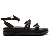 Choker Ribbon Sandal_Black