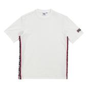 리니어 로고 테잎반팔 티셔츠_white