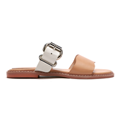 Wave Double Strap Slide_Beige(W)