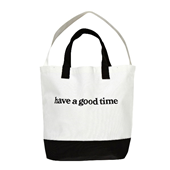 SIDE LOGO 2-WAY TOTE_BLACK