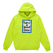 BLUE FRAME PULLOVER HOODIE_Neon