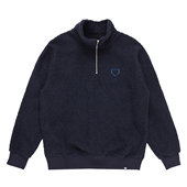 HALF ZIP UP BOA PULLOVER NAVY