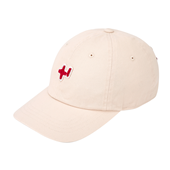 fluff emb logo washed ball cap
