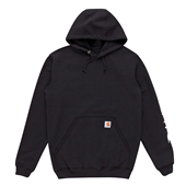 Midweight Signature Sleeve Logo Hooded